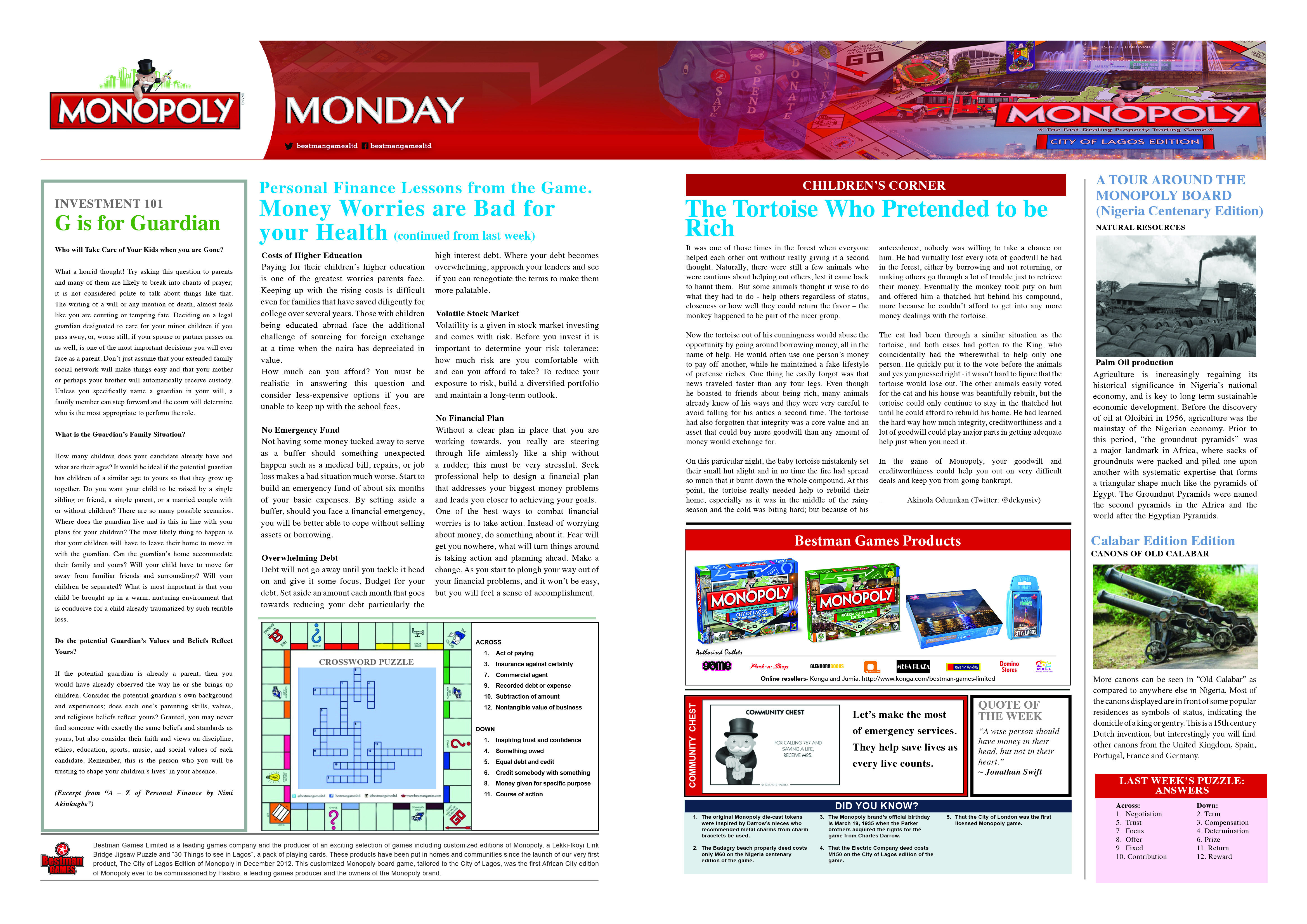 Monopoly Monday  - 16th May 2016