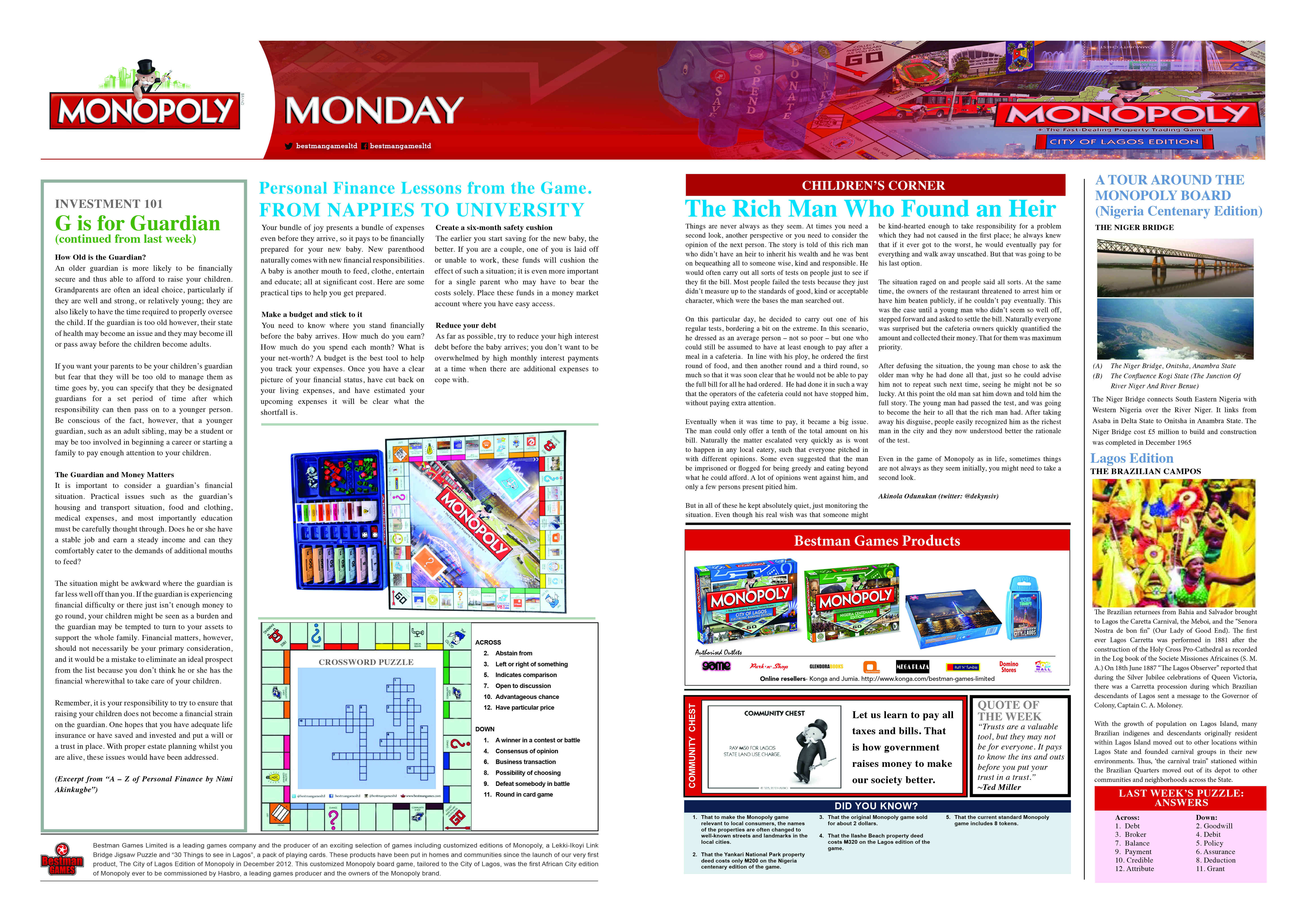Monopoly Monday - Week 19 - 23rd May 2016