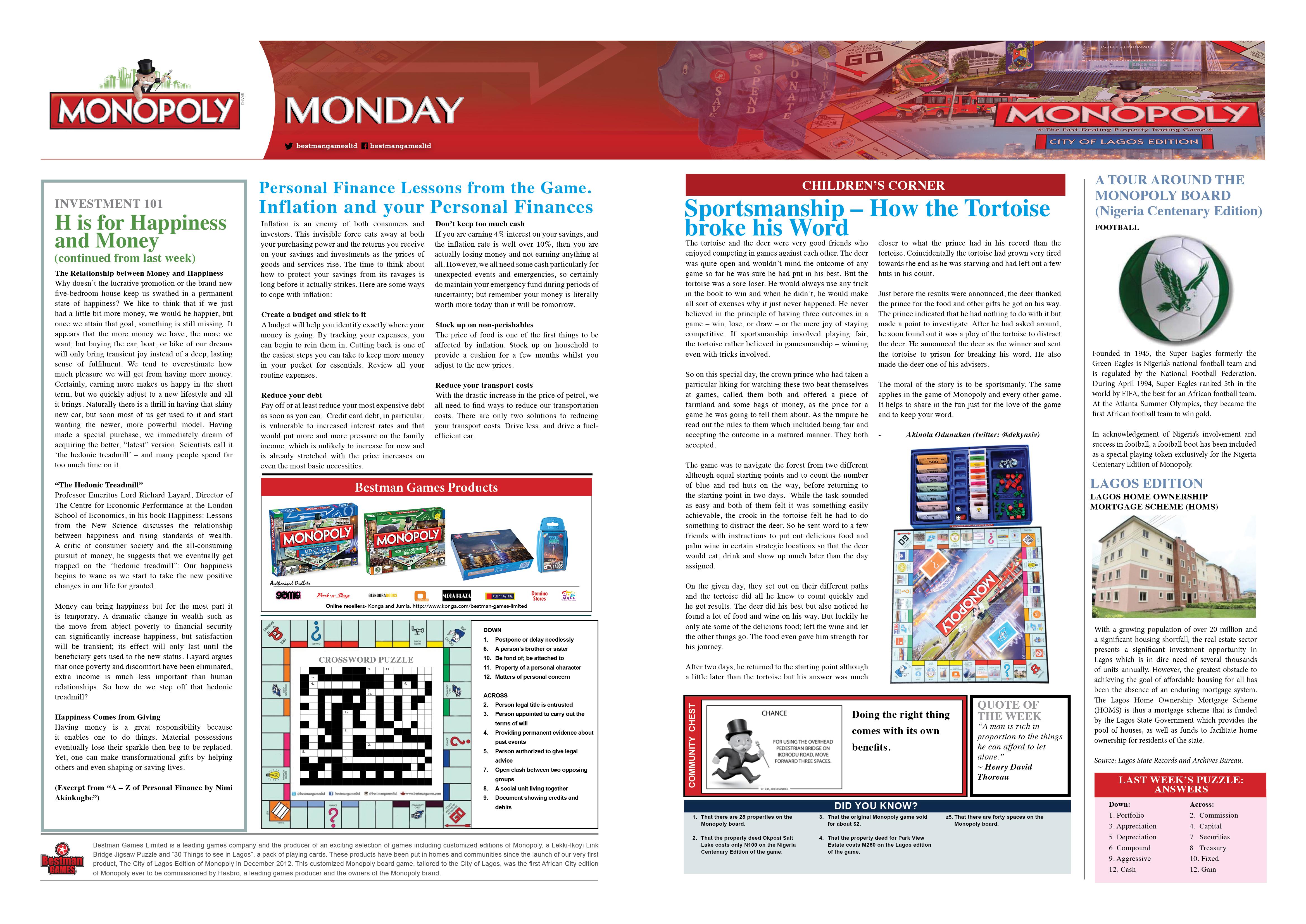 Monopoly Monday - Week 21 - 6th June 2016